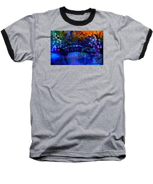 Cross Over The Bridge Baseball T-Shirt by Sherri's Of Palm Springs