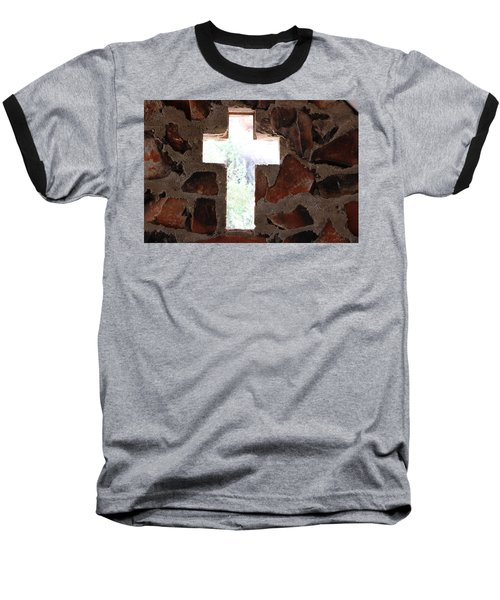 Cross Shaped Window In Chapel  Baseball T-Shirt