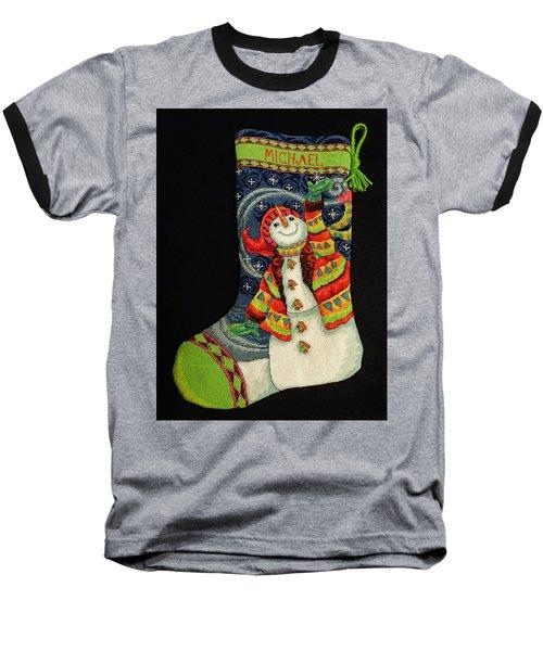 Cross-stitch Stocking Baseball T-Shirt