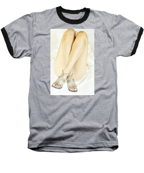 Baseball T-Shirt featuring the photograph Crossed by Marat Essex