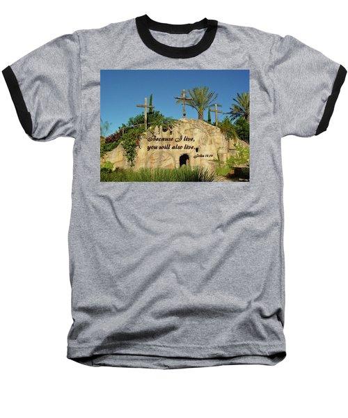Crosses And Resurrection Baseball T-Shirt