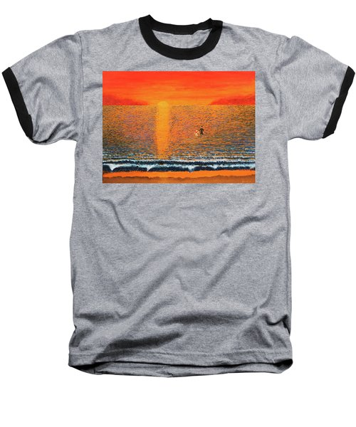 Crossing Over Baseball T-Shirt by Thomas Blood