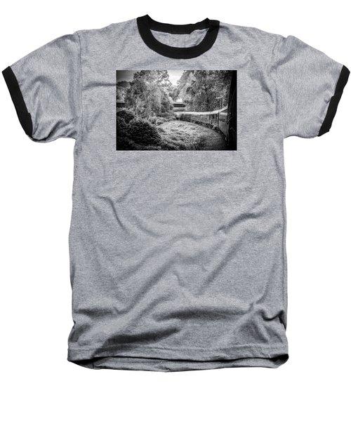Crossing Paths  Baseball T-Shirt by Kelly Hazel