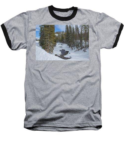 Crossing The Elk Baseball T-Shirt by Sean Allen