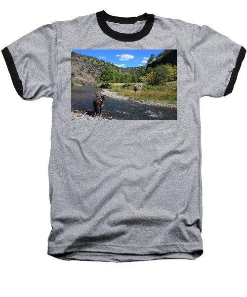 Crossing The Gila On Horseback Baseball T-Shirt