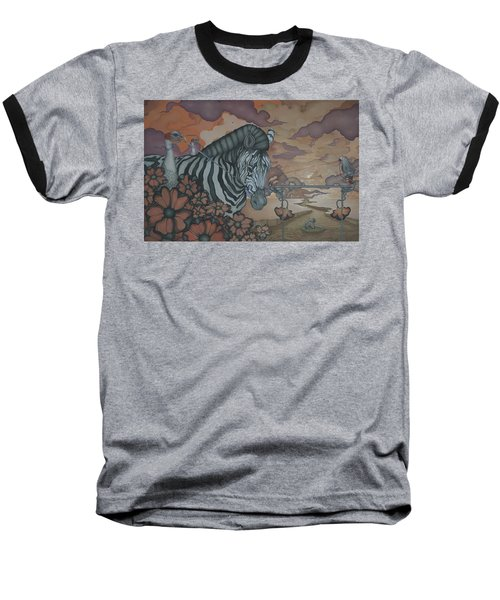 Crossing The Mara Baseball T-Shirt by Andrew Batcheller