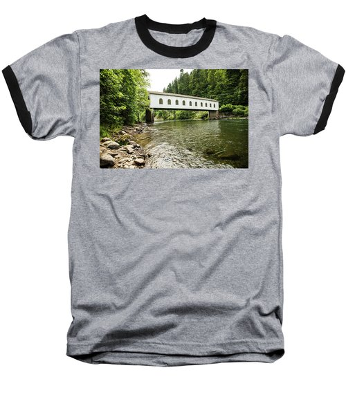 Crossing The Mckenzie River Baseball T-Shirt