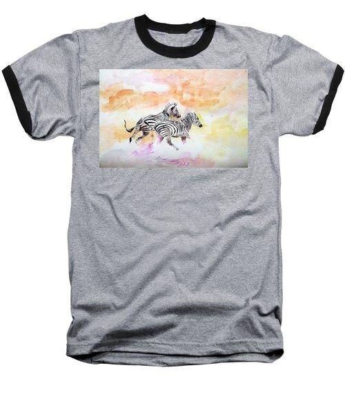 Crossing The River. Baseball T-Shirt by Khalid Saeed