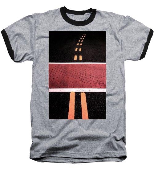 Crosswalk Conversion Of Traffic Lines Baseball T-Shirt