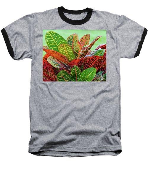 Colorful Croton Bloom Baseball T-Shirt