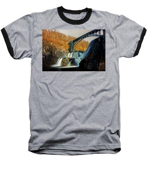 Croton Dam Rainbow Spray Baseball T-Shirt