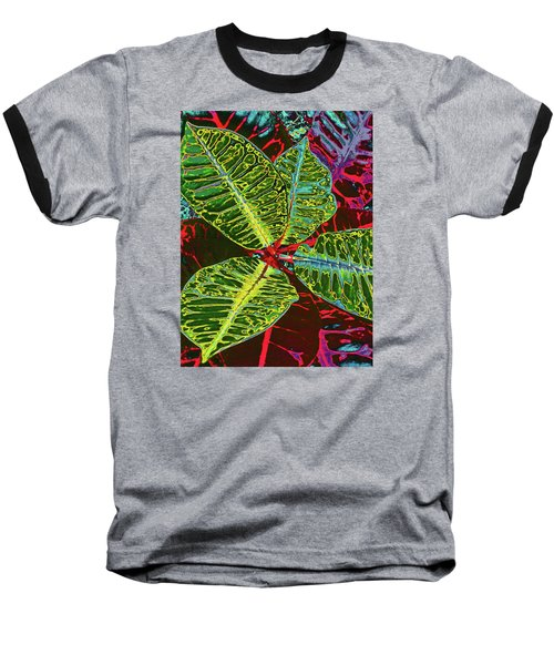 Croton - Deep Green Baseball T-Shirt by Kerri Ligatich
