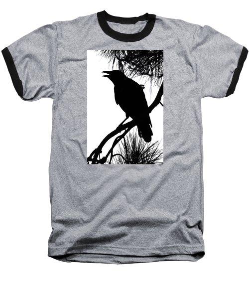 Crow Silhouette Baseball T-Shirt