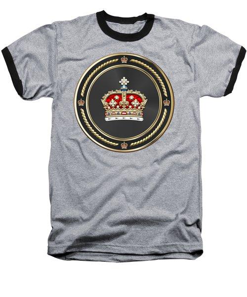 Crown Of Scotland Over Blue Velvet Baseball T-Shirt