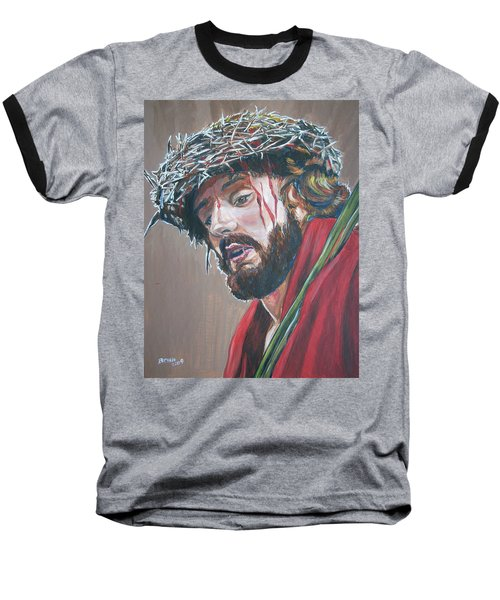Baseball T-Shirt featuring the painting Crown Of Thorns by Bryan Bustard