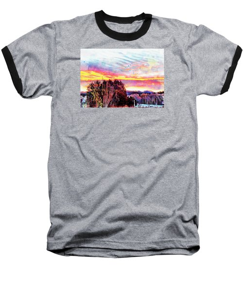 Crows Over Pre Dawn El Valle Baseball T-Shirt by Anastasia Savage Ealy