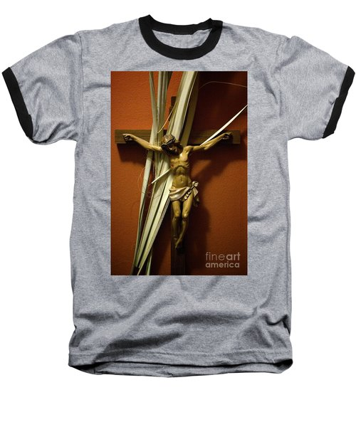 Crucifix Baseball T-Shirt