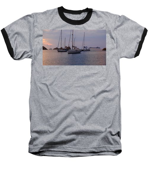 Cruise Liner Passing Baseball T-Shirt