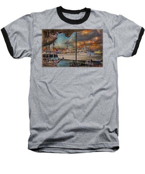 Baseball T-Shirt featuring the photograph Cruise Port by Hanny Heim