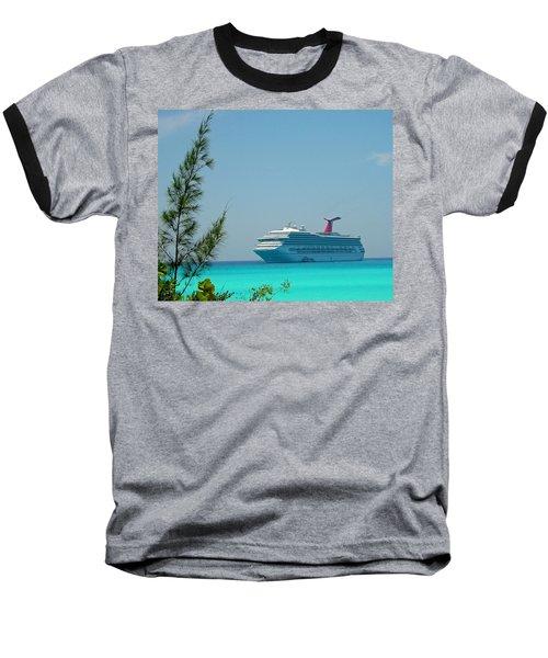 Cruise Ship At Half Moon Cay Baseball T-Shirt