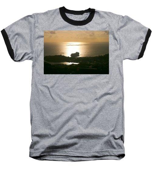 Cruise Ship At Sunset Baseball T-Shirt