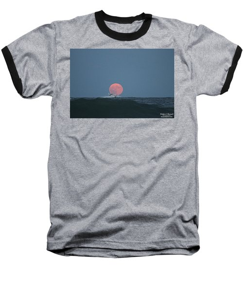 Cruising On A Wave During Harvest Moon Baseball T-Shirt