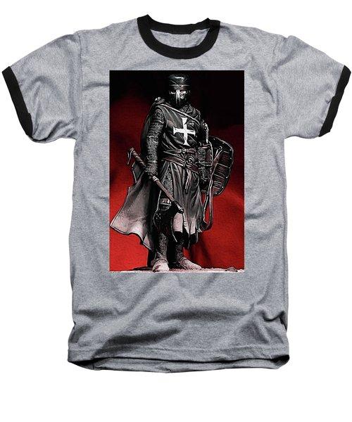 Crusader Warrior - Medieval Warfare Baseball T-Shirt