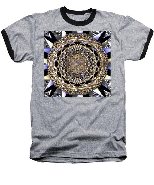 Baseball T-Shirt featuring the digital art Crystal Ahau  by Robert Thalmeier