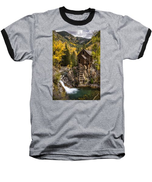 Crystal Autumn Baseball T-Shirt by Bjorn Burton