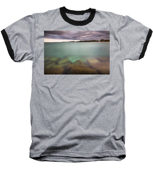 Baseball T-Shirt featuring the photograph Crystal Clear Lake Michigan Waters by Adam Romanowicz