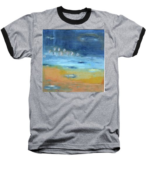Baseball T-Shirt featuring the painting Crystal Deep Waters by Michal Mitak Mahgerefteh