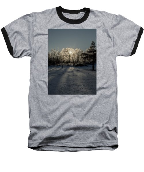 Crystal Glow Baseball T-Shirt by Annette Berglund