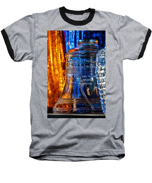 Crystal Liberty Bell Baseball T-Shirt