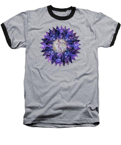 Crystal Magic Mandala Baseball T-Shirt