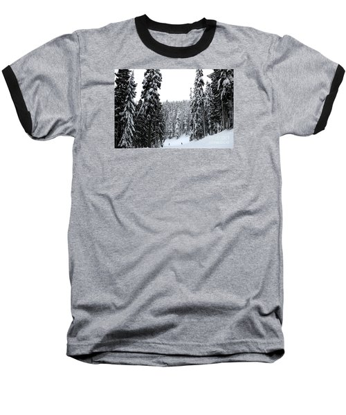 Baseball T-Shirt featuring the photograph Crystal Mountain Skiing 2 by Tanya Searcy