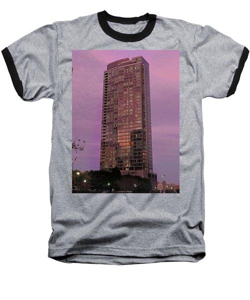 Crystal Skyscraper Sunset Baseball T-Shirt