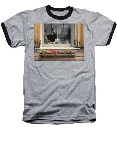 Crystal Window Baseball T-Shirt by Kim Prowse