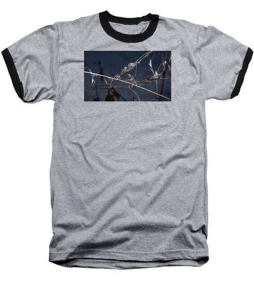 Baseball T-Shirt featuring the photograph Crystals by Annette Berglund