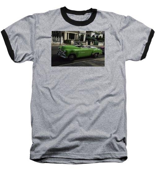 Cuba Car 3 Baseball T-Shirt by Will Burlingham