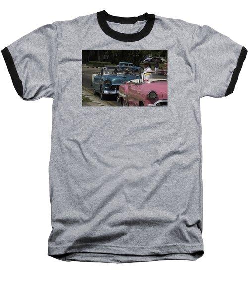 Cuba Car 4 Baseball T-Shirt by Will Burlingham