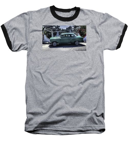 Cuba Car 8 Baseball T-Shirt by Will Burlingham