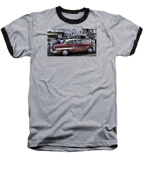 Cuba Cars 2 Baseball T-Shirt by Will Burlingham