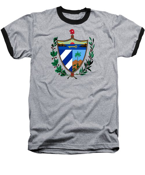 Cuba Coat Of Arms Baseball T-Shirt by Movie Poster Prints
