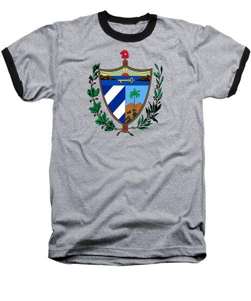 Cuba Coat Of Arms Baseball T-Shirt