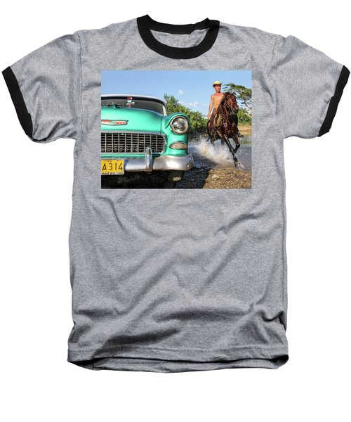 Cuban Horsepower Baseball T-Shirt