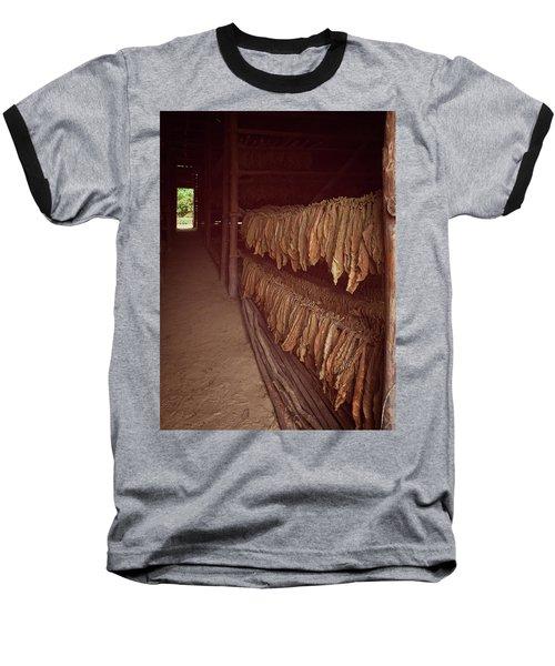 Baseball T-Shirt featuring the photograph Cuban Tobacco Shed by Joan Carroll