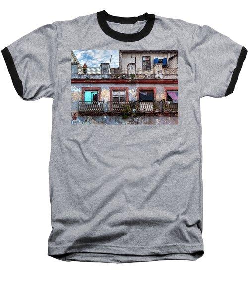 Baseball T-Shirt featuring the photograph Cuban Woman At Calle Bernaza Havana Cuba by Charles Harden