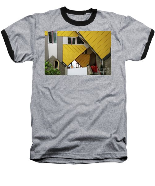 Baseball T-Shirt featuring the photograph Cube Houses Detail In Rotterdam by RicardMN Photography