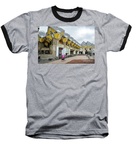 Baseball T-Shirt featuring the photograph Cube Houses In Rotterdam by RicardMN Photography