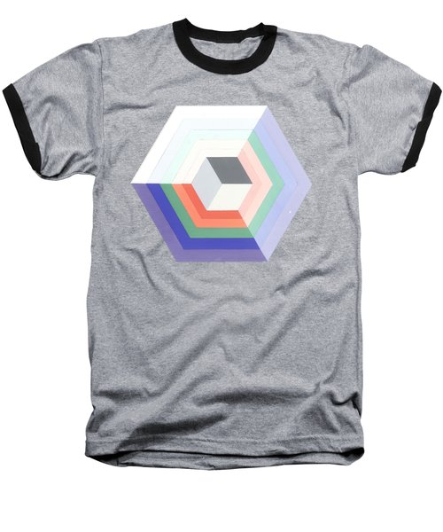 Cube Baseball T-Shirt by Julio Lopez